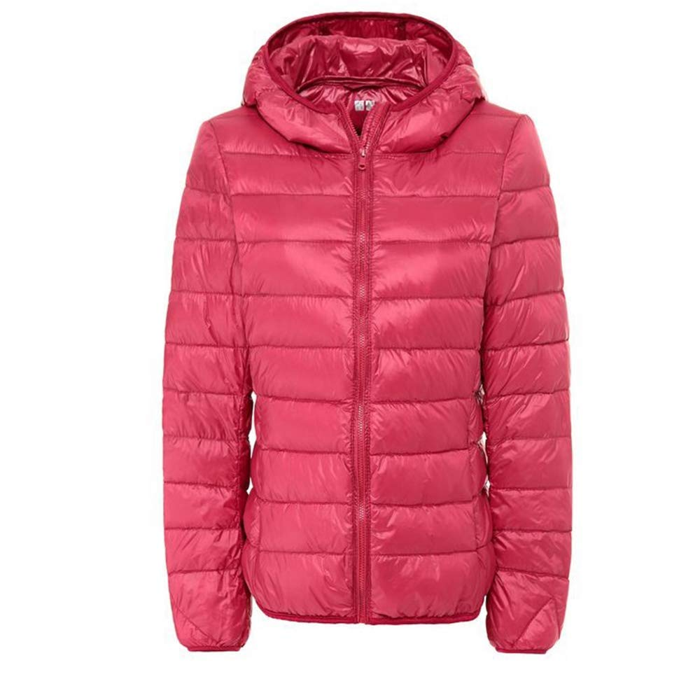 Red 4XL Loozo Winter Ladies Fashion Short Paragraph Large Size Slim Hooded Light Down Jacket
