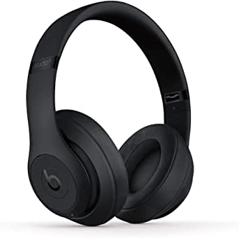 Beats Studio3 Wireless Noise Cancelling Over-Ear Headphones - Apple W1 Headphone Chip, Class 1 Bluetooth, Active Noise Cancelling, 22 Hours of Listening Time - Matte Black (Previous Model)