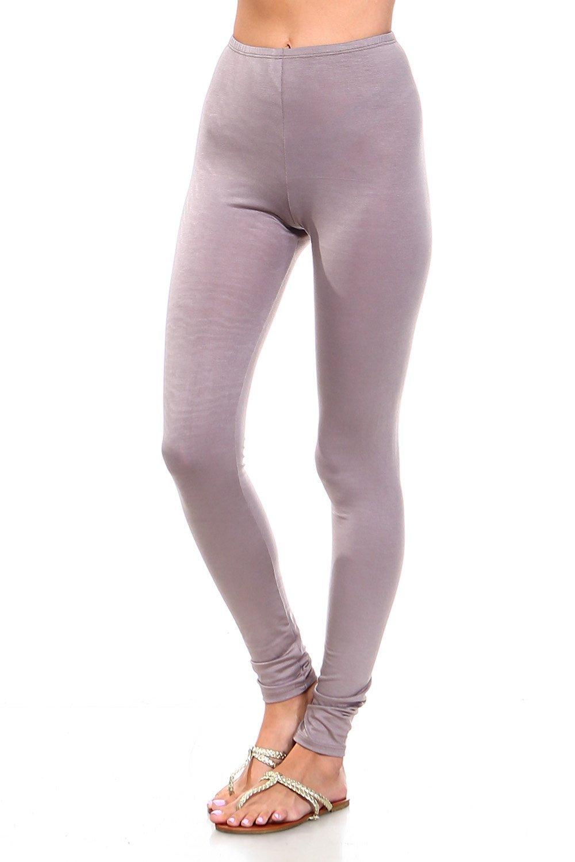 Simplicitie Women's Premium Ultra Soft High Waist Leggings - Mocha, Medium - Made in USA