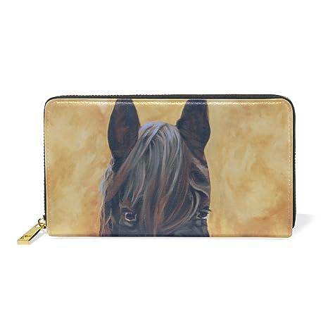 COOSUN Pintura cuero de caballo del monedero del embrague de ...