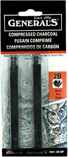 product image for General Compressed Charcoal Stick 2B 2/Pk