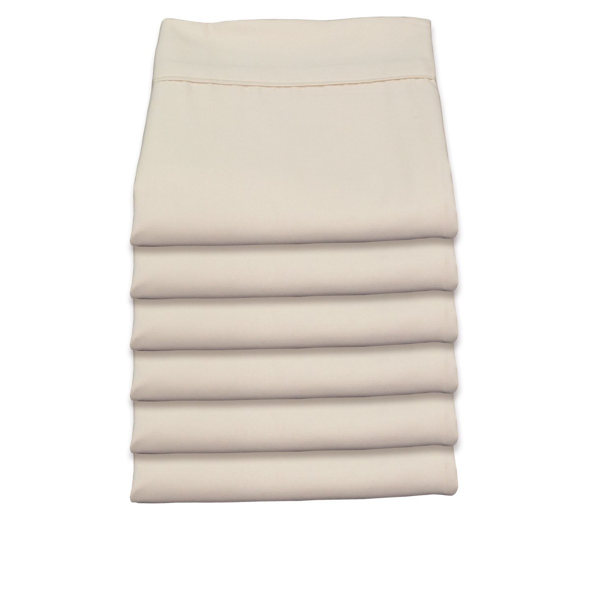 """Waga Pack of 6 flat sheets - Hotel collection - microfiber (grey, beige) (Light Beige, Twin (39"""" x 75""""))"""