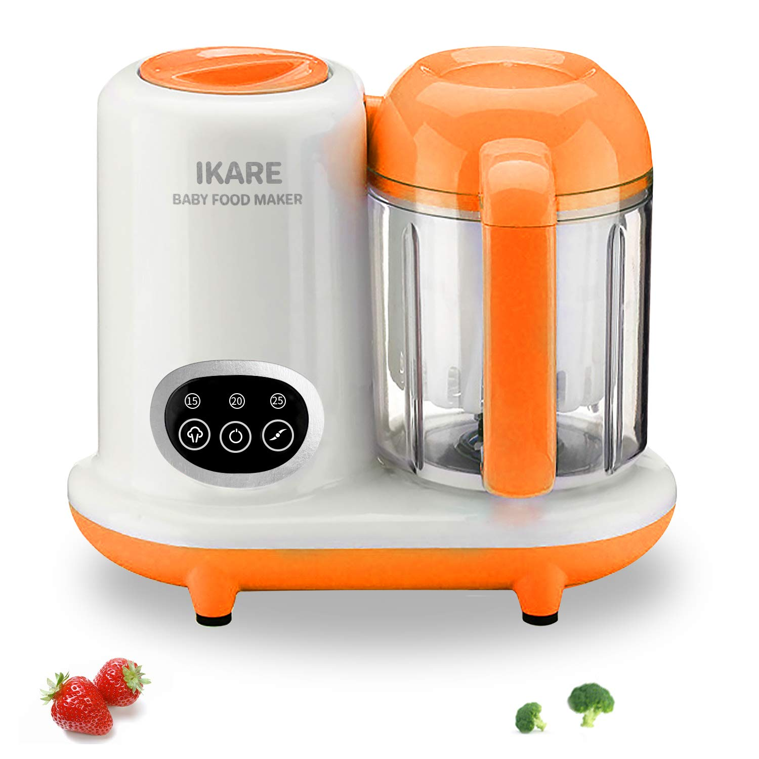 Baby Food Maker   Baby Food Processor   Puree Blender Multi-Function Steamer Grinder Blender, Touch Control Panel, Auto Shut-Off, 25 Oz Tritan Stirring Cup, Cook & Blend Homemade Baby Food in Minutes