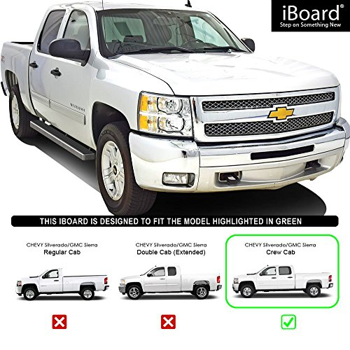 Aps Iboard Silver 4 Inches Running Boards Nerf Bars