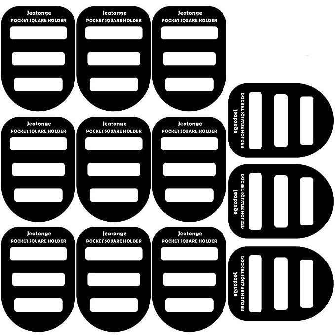 0c8986532 Jeatonge Pocket Square Holder Keeper Organizer Pocket Squares For Men  Prefolded (Holder 12 Pcs)