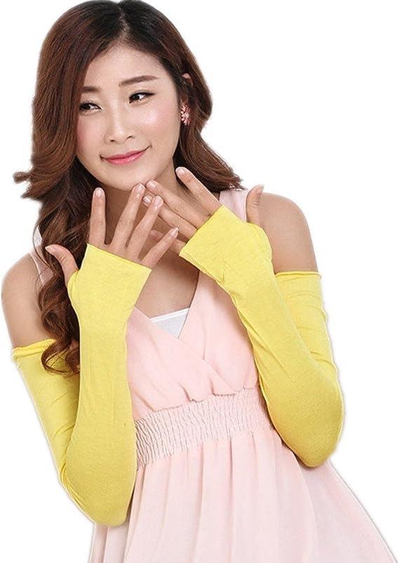 Brawdress UV Protection Fingerless Gloves Women Chic Cotton Arm Sleeves