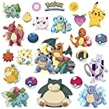 New POKEMON ICONIC 24 Wall Decals Room Decorations Pikachu Pokeball Decor Stickers