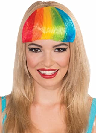 Lot of two multicolored rainbow plastic bars accessories vintage hairstyle