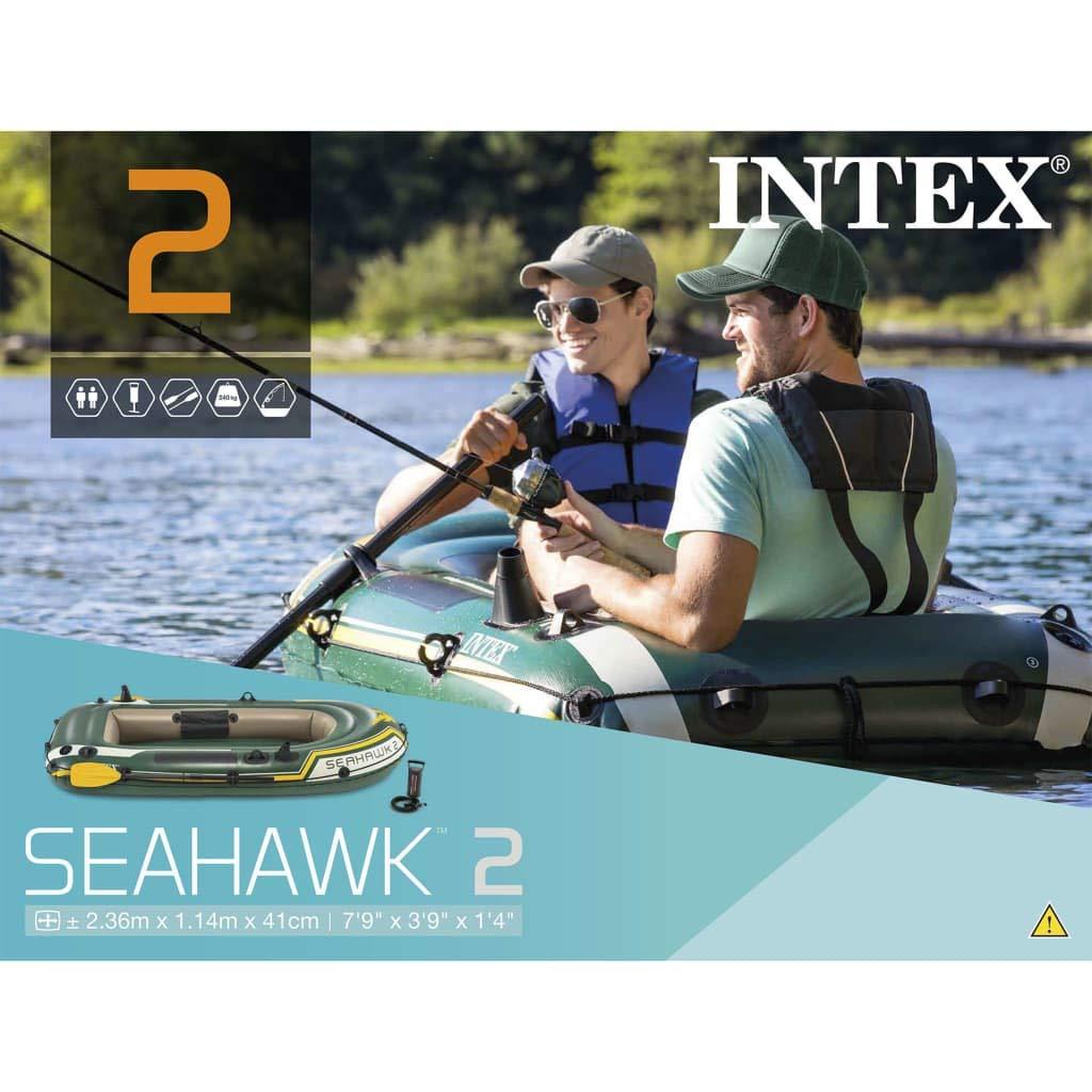INTEX Barca Inflable Seahawk 2 68347NP con remos e hinchador ...