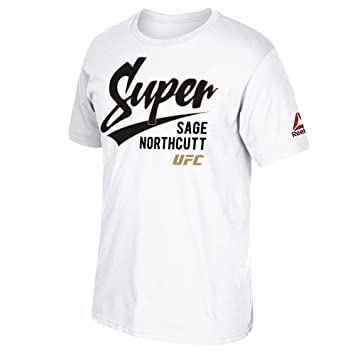 Reebok Sage Northcutt UFC White Super Script Graphic T-Shirt For Men (S)