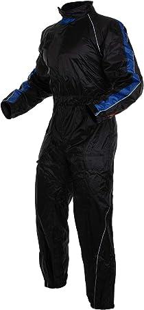 Regenkombi Wasserdicht Motorrad Roller Regenhose Regenjacke Regenanzug Blau Xs Auto