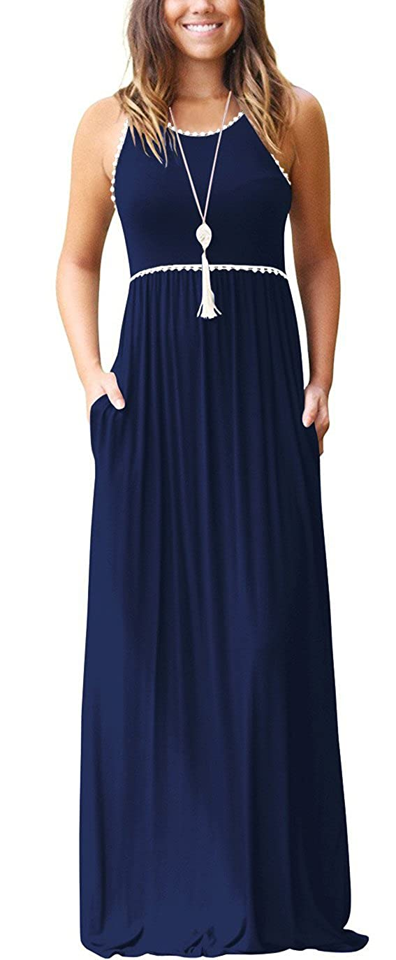 500 Vintage Style Dresses for Sale | Vintage Inspired Dresses WEACZZY Womens Sleeveless Loose Plain Vacation Days Maxi Dresses Casual Long Dresses with Pockets $25.99 AT vintagedancer.com