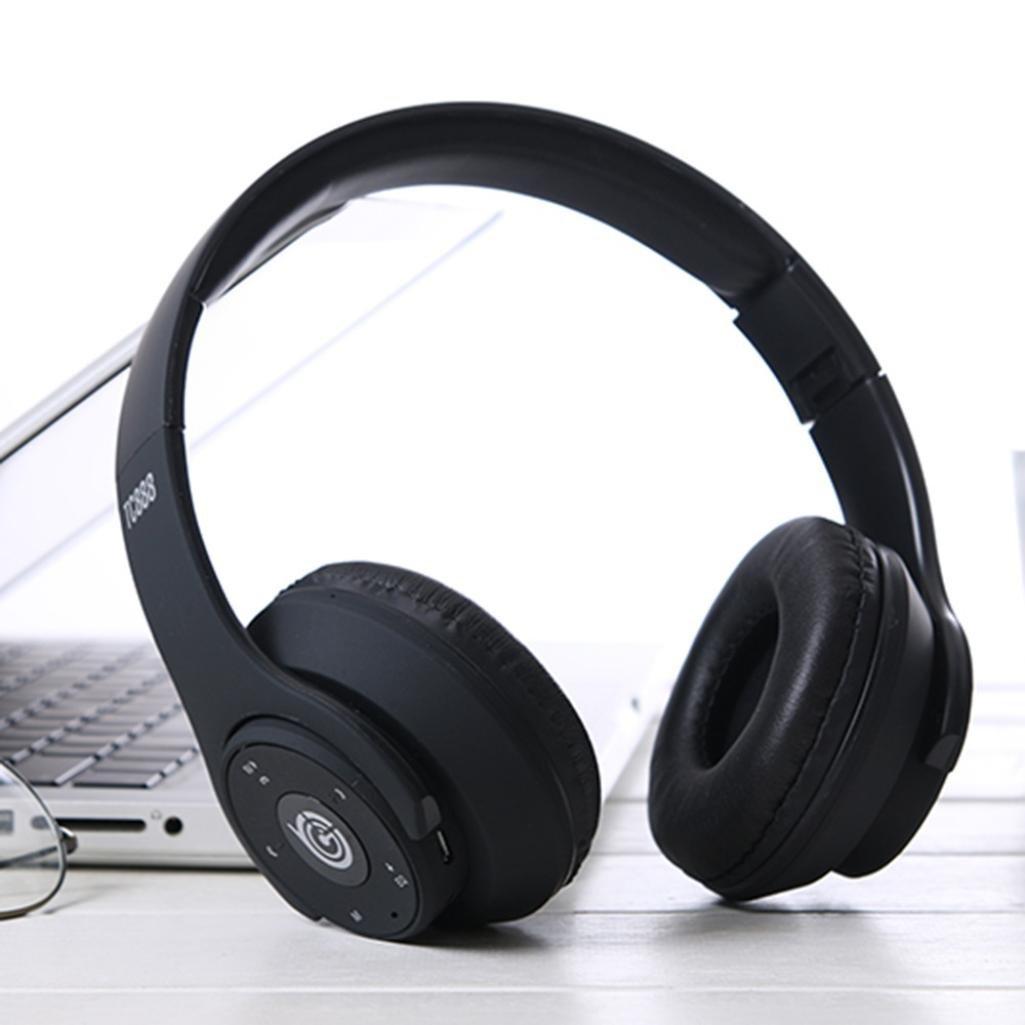 STRIR Bluetooth para auriculares est/éreo V4.1 M/úsica plegable Over-oreja Azul