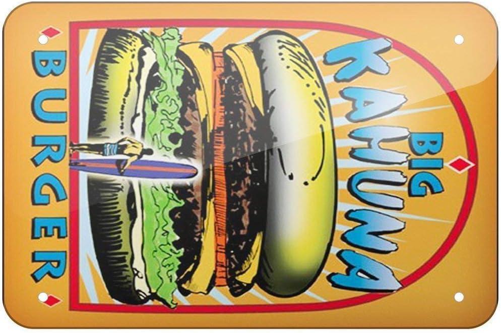 Stevenca Metal Tin Sign Big Kahuna Burger, Pulp Fiction, Large Metal Aluminum Sign for Wall Decor 8x12 Inch