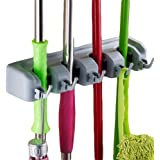 INOVERA (LABEL) Wall Mounted Stick Handle Mop and Broom Holder (Grey)