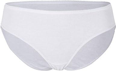 Pack de 4 Unisex Bragas Desechables Blancas de Algodón para Mujer ...