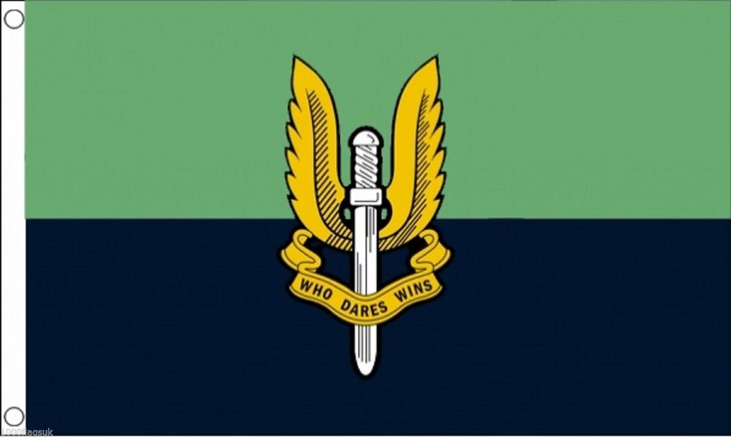 British Army SAS Special Air Service Green and Blue 5/'x3/' Flag