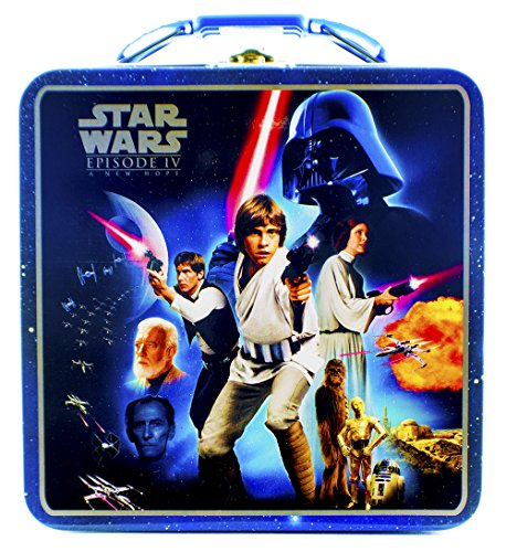 Star Wars ~ Episode IV : A New Hope ~ Collectors Tin ~ Lunch Box ~ Storage Carrying Case ~ (Luke Skywalker / Princess Leah) New Princess Tin