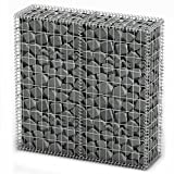 vidaXL Gabion Basket w/Lid Retaining Wall Gardens Edging Cage 39.4''x39.4''x11.8''