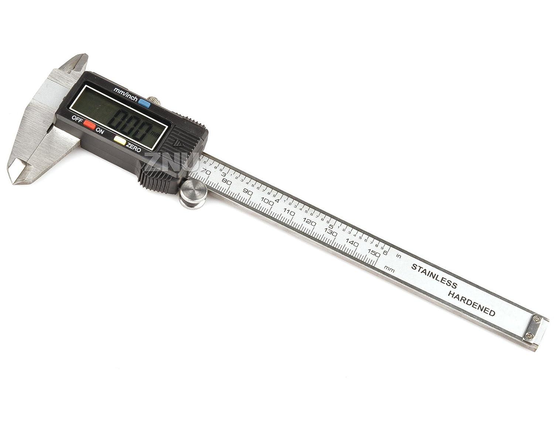 Tooltime MS092 15, 24 cm 150 mm electró nica digital Vernier para metalisterí a ( –  negro 24cm 150mm electrónica digital Vernier para metalistería (-negro toolzone