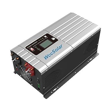 Inversor Onda Pura Hibrido 2000W/6000W 12V Regulador MPPT ...