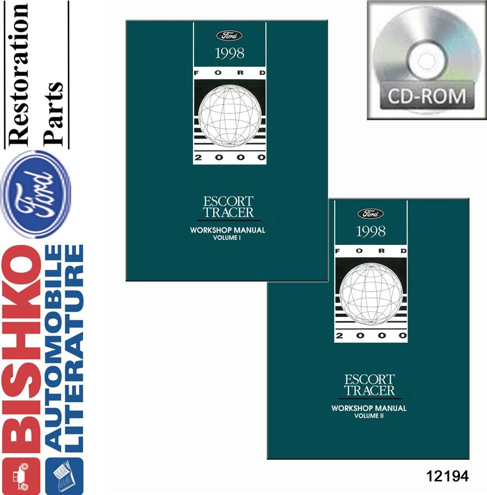 Amazon.com: bishko automotive literature 1998 Ford Escort Mercury Tracer  Shop Service Repair Manual CD Engine Electrical: Automotive