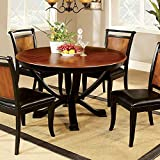 Furniture of America CM3034RT Salida I Round Pedestal Dining Table
