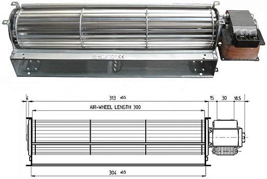 Ventilador tangencial estufa de pellets Tga 60/1-300/30 Emmevi ...