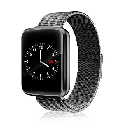 Chriffer Smart Watch, IP67 Waterproof Smartwatch of Milanese Loop with All-Day Heart Rate & Blood Pressure Monitor, Running GPS Tracker Sport Band ...