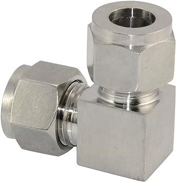 """Hidráulica 1//4/"""" NPT para montaje de compresión 6mm neumática 316 De Acero Inoxidable"""