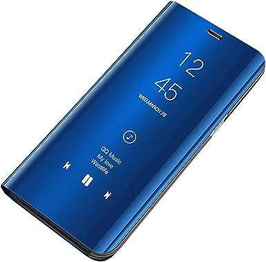 Hishiny Funda para Huawei P9 Plus Suave + Duro Carcasa Espejo Case Mirror Flip Caso Ultra Delgada Shock Caja del Teléfono Translucent Window View para Huawei P9/P9 Plus/P9 Lite: Amazon.es: Ropa y