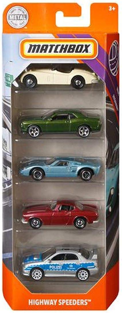 Matchbox 5 Pack Highway Speeders