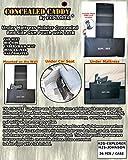 EXPLORER Safe Lockable Adjustable in Size Mattress Bed Handgun Holster for Under Vehicle Seat, Office Seat Concealed Handgun Holster with Tactical Flashlight Loop