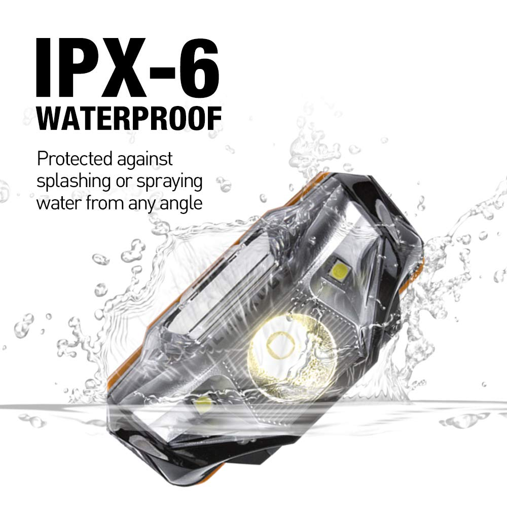 Blue Only 1.69Oz Lightweight Headlamp Ultra Bright Portable LED Headlamp ,7 Lighting Modes,IPX6 Waterproof,Best Headlight for Camping,Running,Hiking and Kids,1AA Battery included