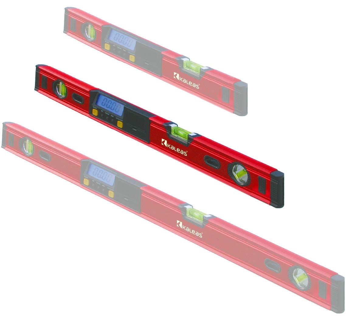 Kaleas Digitale Wasserwaage 70cm mit 3-fach Libellen, integrierten Magneten und Schutz-Tasche (34187)