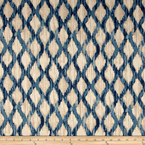 Kelly Ripa Home Floating Trellis Indigo Fabric By The Yard