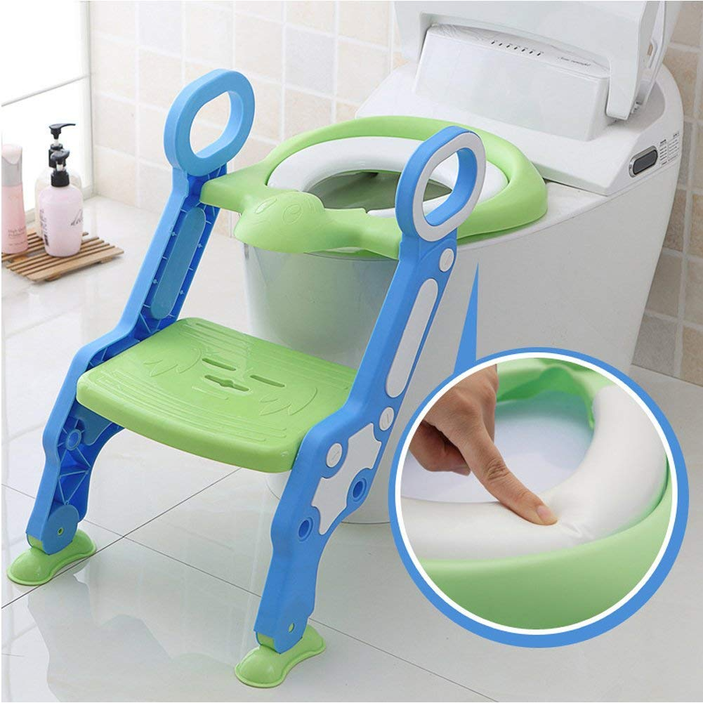 Toddler Kid Toilet Training Seat with Sturdy Non-Slip Ladder Step Potty Ladder for Boys and Girls Babybest MB-MTT-2-001