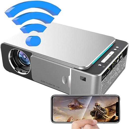 MFWFR Proyector Portátil con 1300 Lux y Full HD 1080p, Pantalla de ...