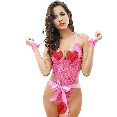 a57782a4ec3 Fashion Women's G-String Sex Attractive Teddy Underwear Bodysuit Lace  Nightwear, friendGG Ladies Tempting