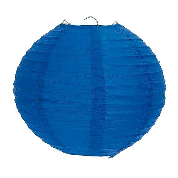Clayre Eef 6lak0324s Lampenschirm Papier Klein Blau Ca O 20 Cm