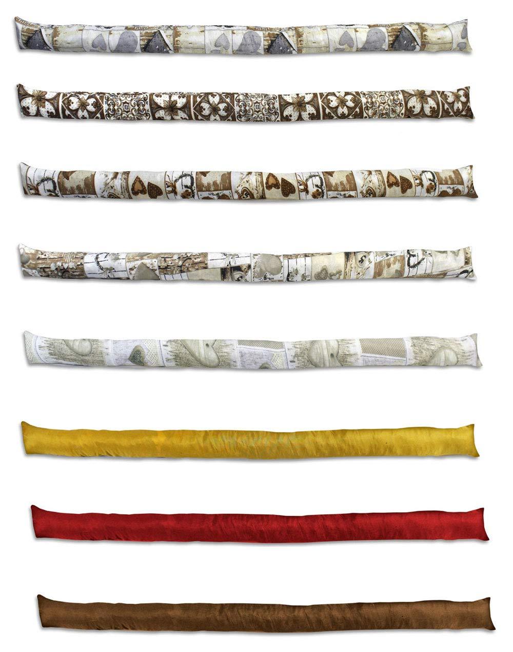 Vetrineinrete® Set 3 paraspifferi 120 cm sottoporta Antivento per Correnti d'Aria parafreddo per Porte finestre infissi P4 Vetrine in rete®