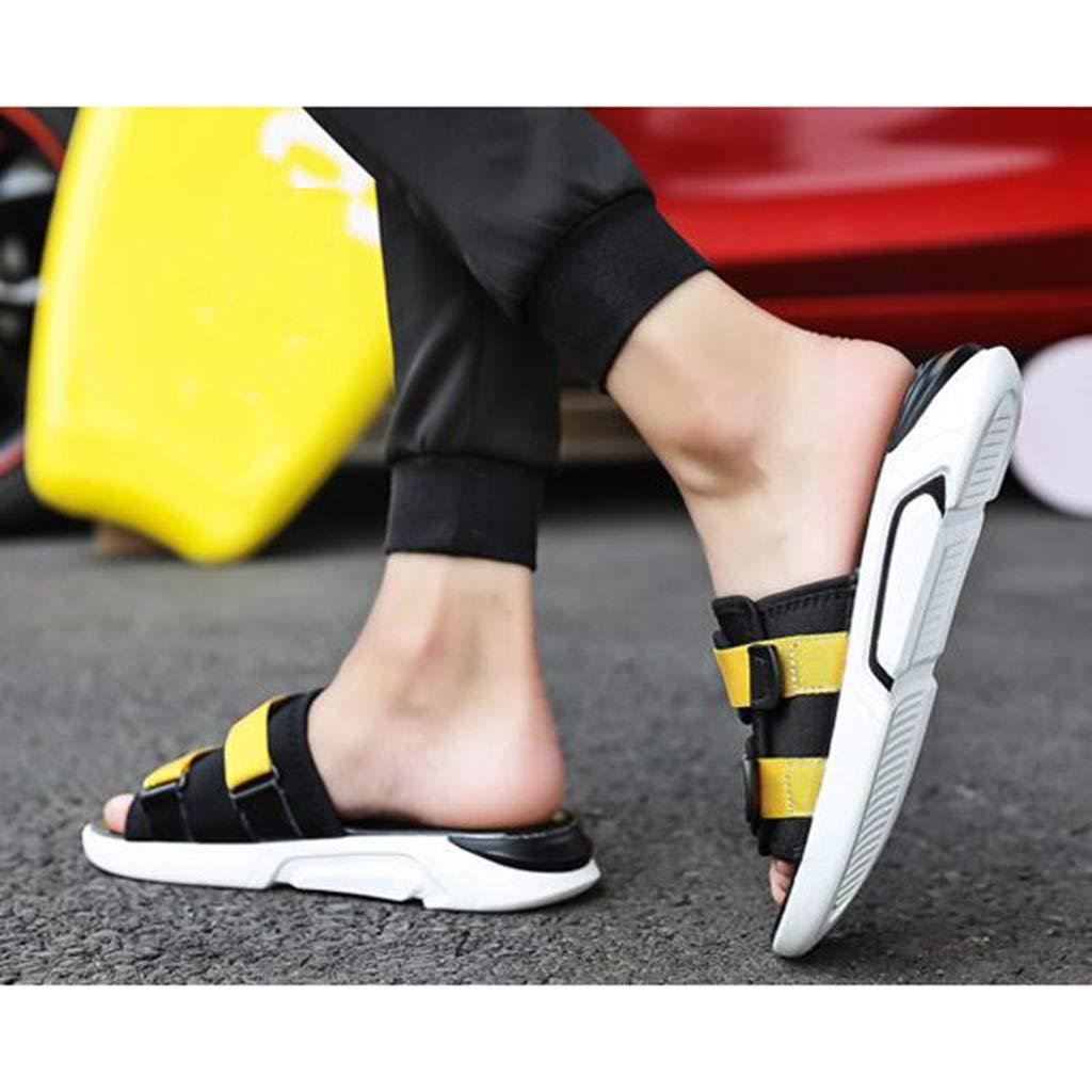 TD SH907 Sandalen Mode Tragen Trend Trend Trend Strand Schuhe Freizeit Student Sandalen Männer Sand Drag (Farbe   SCHWARZ, größe   EU39 UK6.5 CN40)  77238f