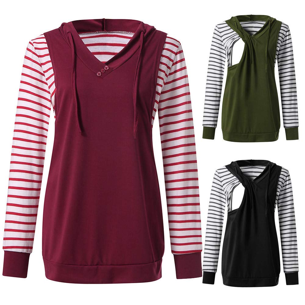 e552e60f6a898 Amazon.com: Nacome Maternity Hoodie,Women Long Sleeve Nursing Hoodie Tops Breastfeeding  Sweatshirts: Sports & Outdoors