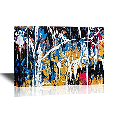 Canvas Wall Art - Abstract Color Composition - Gallery Wrap Modern Home Art | Ready to Hang - 12x18 inches