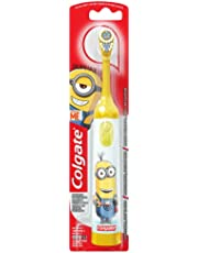Colgate Kids Battery Powered Toothbrush, Minions, 1 Count (Colours Vary)