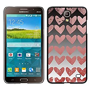 Stuss Case / Funda Carcasa protectora - Hearts Wallpaper Pink Love Relationship - Samsung Galaxy Mega 2