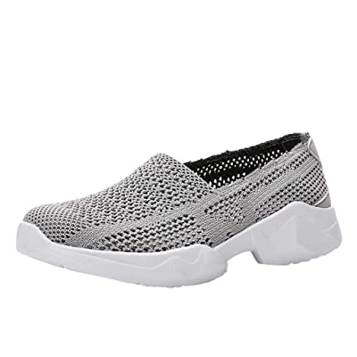 ZSBAYU Couple's Breathable Hollow Mesh Shoes Lightweight Soft Bottom Shoes Fitness Casual Sports Walk Gym Jogging Athletic Sneakers: Shoes