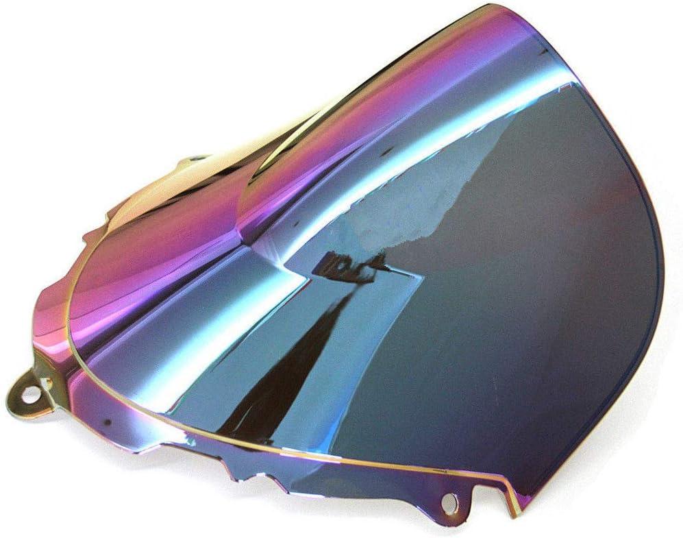Pare-brise pare-brise sport moto double bulle pour GSX600F GSX750F Katana 1998-2008 Bleu