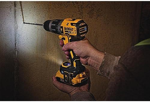 DCD797D2's hammer drill can drill through concrete slabs