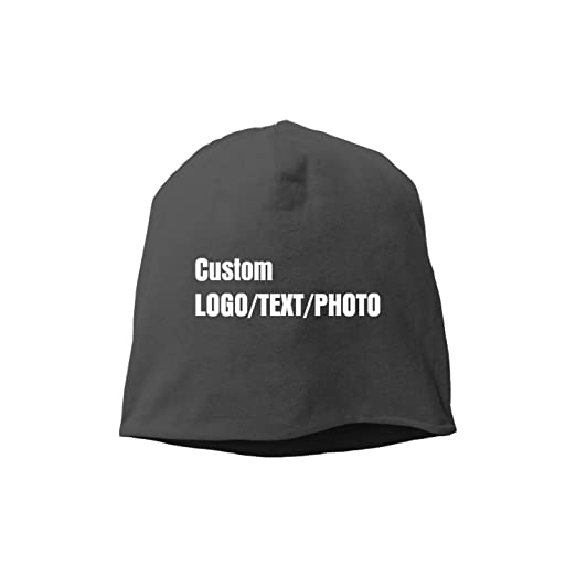 3e09e190364c6 Custom Personalised Unisex Men Women Beanie Hat Warm Cap Black at ...